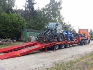 Transport Maszyn Rolniczych Leśnych Budowlanych Kontenerów Wózków Itp