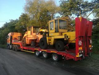 Transport wózków widłowych maszyn koparek Poznań